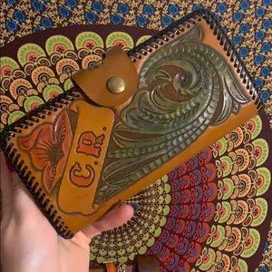 Beautiful vintage C.R  engraved wallet
